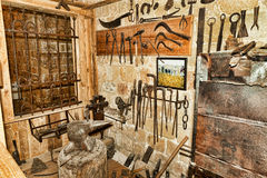 In old rustic  smithy Stock Image