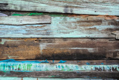 Old rustic with splash color wood panel. In horizontal random order Royalty Free Stock Photos