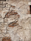 Old rustic stone and brick wall texture Royalty Free Stock Images