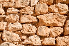Free Old Rustic Stone Wall Made Using Only Natural Materials. Royalty Free Stock Photo - 184308275