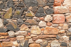 Old Rustic Stonewall Background Royalty Free Stock Photography
