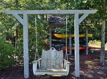 Old Rustic Swing Stock Photo