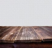 Table with clipping path Royalty Free Stock Photography