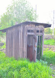Old rustic toilet. Royalty Free Stock Photo