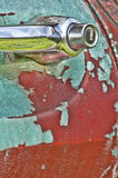 Old rustic truck with peeling paint. Royalty Free Stock Photo