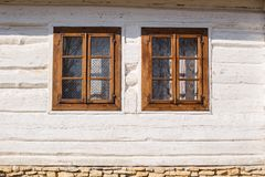 Old rustic white house Royalty Free Stock Images