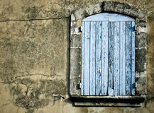 Old rustic window background provence france Stock Photography