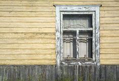 Old rustic window. Large fragment of the old village window. done manually Royalty Free Stock Photography
