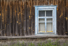 Old rustic window. Large fragment of the old village window. done manually Royalty Free Stock Photos