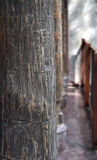 Old rustic wood column texture architecture Royalty Free Stock Photo