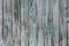 Old rustic wood painted white and green and blue colours background royalty free stock photos