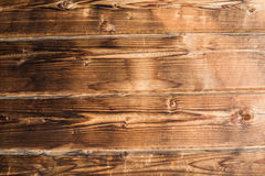 Old rustic wooden background, brown wood texture horizontal Royalty Free Stock Photos