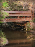 Old Rustic Wooden Covered Bridge stock photos