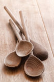 Old Rustic Wooden Spoons Royalty Free Stock Images