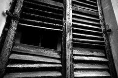 Old rustic wooden window Royalty Free Stock Photo