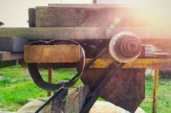 Rustic woodworking machine royalty free stock images