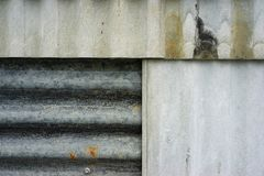 Old rustic zinc sheet wall texture. grunge rusty wall background. Stock Photo