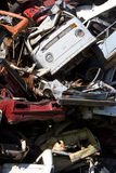 Old rusting cars in a junk yard Royalty Free Stock Photography