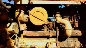 Old Rusting Bulldozer Tractor Engine Stock Photos
