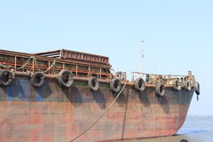 Old Rusting ship Stock Photography