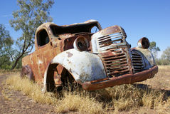 Old rusty abandoned car Stock Photo