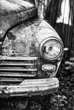Old rusty abandoned car outdoors macro Royalty Free Stock Photos