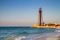 Free Old Rusty Abandoned Lighthouse On The Sea Coast During Sunrise Stock Images - 133627244