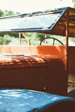 Old and rusty Abandoned pickup Truck, retro style Stock Images
