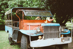 Old and rusty Abandoned pickup Truck, retro style Royalty Free Stock Images