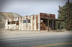 Old rusty abandoned warehouse Royalty Free Stock Images