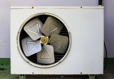 Old rusty air conditioner. wall Stock Photos