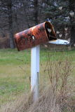 Old Rusty American Postbox Isolated. Seen in Victor New York State Stock Image