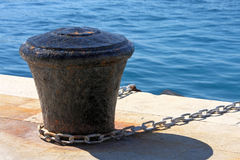 Old rusty anchor. Close up of a rusty anchor chain Royalty Free Stock Image
