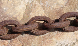 Old rusty anchor chain Stock Photos
