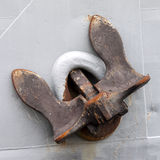 Old rusty anchor Royalty Free Stock Photos