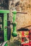Old rusty arm of sugarcane juice machine manual royalty free stock image