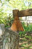 Old rusty ax Stock Image