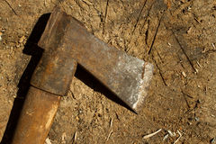 Old rusty axe Royalty Free Stock Image