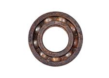 Old and rusty ball bearings. Old and rusty ball bearing, isolated on white background Stock Images