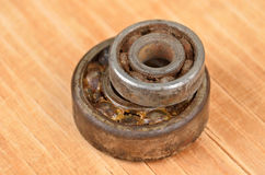 Old and rusty ball bearings Stock Photos