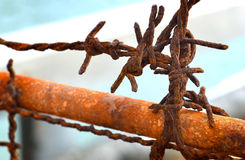 Old and rusty barbed wire Royalty Free Stock Photos