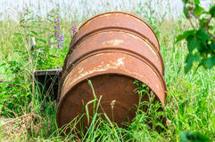Old rusty barrel Royalty Free Stock Photography