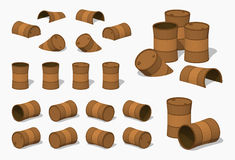 Old rusty barrels Royalty Free Stock Photography