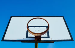 Old, rusty basketball rim Stock Images