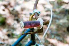 Old Rusty Bicycle Grip Royalty Free Stock Photography