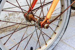 Old rusty bicycle Stock Images