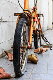 Old rusty bicycle Royalty Free Stock Images