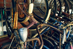 Old rusty bicycles Stock Photo