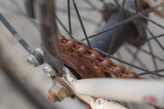 Old rusty bike chain Stock Photography