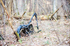 Old rusty bike in forest Stock Photos